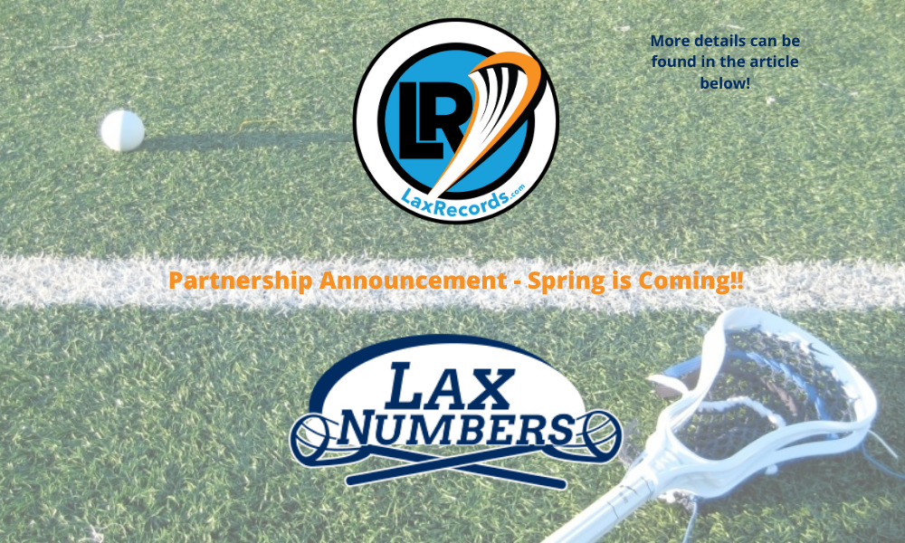 Laxnumbers Partnership Announcement - Spring is Coming!!
